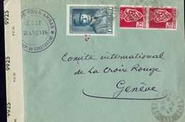 Lettre Postée à CONSTANTINE En 1943 à L'intention De La Croix Rouge Internationale à Genève- Censure Anglaise- - Algérie (1924-1962)