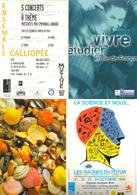 """4 Cartes Postales """"Cart'Com"""" (1999) - Ensemble Calliopée - Vivre, étudier En IDF - Rivages - La Science Et Nous - Publicité"""