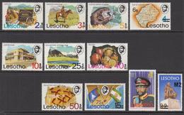 1980 Lesotho Definitives Surcharges Complete Set Of 11 MNH - Lesotho (1966-...)