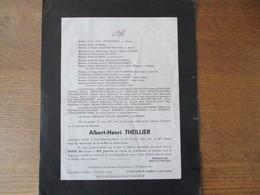 SAINT HILAIRE SUR HELPE MONSIEUR ALBERT-HENRI THEILLIER DECEDE LE 25 OCTOBRE 1945 DANS SA 80me ANNEE - Décès