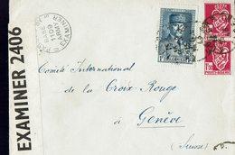 Lettre Postée à ALGER En 1943 à L'intention De La Croix Rouge Internationale à Genève - Censure Anglaise- - Algérie (1924-1962)