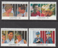 1990 Lesotho Charles & Diana Wedding Anniversary Harry  Complete Set Of  4 MNH1 - Lesotho (1966-...)