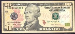 USA 10 Dollars 2017 H  - UNC # P- NEW < H - St. Louis MO > - Billets De La Federal Reserve (1928-...)
