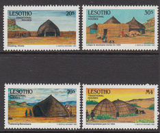 1993 Lesotho Traditional Houses  Complete Set Of  4 MNH - Lesotho (1966-...)