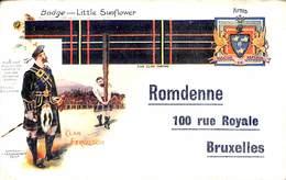 Romdenne, Rue Royale Bruxelles (tailleur Tailor Shop, Clan Ferfuson, Badge - Little Sunflower) - Ambachten