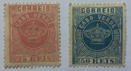 MOZAMBIQUE Crown Type 25 Reis And 50 Reis Mint Hinged - Mozambique