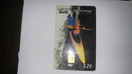 Canada-(b20037)-kayaker-(14)-(20$)-tirage-50.000-used Card+1card Prepiad Free - Canada