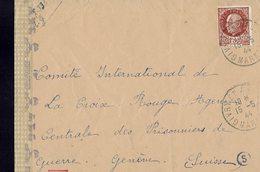 Lettre Postée à GIVRY En ARGONNE (Marne) à L'intention De La Croix Rouge Internationale à Genève - Censure Allemande- - France