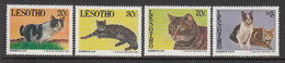 1993 Lesotho Cats Chats Complete Set Of  4 MNH - Lesotho (1966-...)