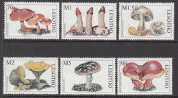 1998 Lesotho Mushrooms Fungi Complete Set Of  6 MNH - Lesotho (1966-...)