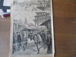 LE PETIT PARISIEN  DU 31 MARS 1895 LA GUERRE ENTRE LA CHINE ET LE JAPON-LE VICE ROI LI-HUNG-CHANG QUITTANT PEKIN,LE GENE - 1850 - 1899