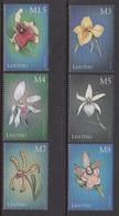 1999 Lesotho Orchids Fleurs Complete Set Of  6 MNH - Lesotho (1966-...)