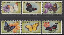 2001 Lesotho Butterflies Papillon Complete Set Of  6 MNH - Lesotho (1966-...)