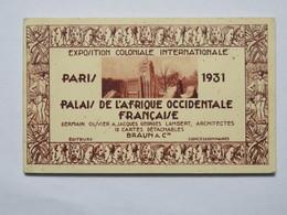 Carnet De 12 Cartes Postales: Exposition Coloniale Internationale, PARIS 1931, Palais De L'AFRIQUE OCCIDENTALE FRANCAISE - Expositions