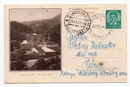 1938 Manastir Monastery Raca Serbia Yugoslavia  Illustrated Used Postcard - Yougoslavie