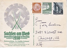 Propaganda Card  TO  U.S.A.   SACHSEN  EXPO. - War 1939-45