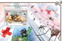 NIGER 2015 SHEET MALARIA RED CROSS CRUZ ROJA CROIX ROUGE Nig15302b - Niger (1960-...)
