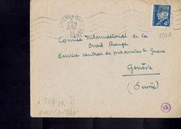 Lettre Postée à AVIGNON (Vaucluse) à L'intention De La Croix Rouge Internationale à Genève - Censure Allemande- - France