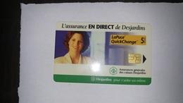 Canada-(b30031)-assurance Desjardins-(21)-(5$)-tirage-7.500-used Card+1card Prepiad Free - Canada