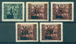 V7031 ITALIA OCCUPAZIONI ISTRIA Litorale Sloveno 1945 Segnatasse, MNH**, Sass. 1-5, Serie Completa, Ottime Condizioni - Occup. Iugoslava: Istria