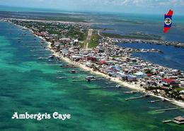 Belize Ambergris Caye Aerial View New Postcard - Belize