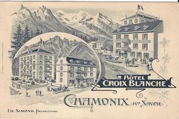 74 CHAMONIX MONT BLANC HOTEL CROIX BLANCHE SIMOND PROPRIETAIRE NOTE EDITEUR A TRUB LAUSANNE ET AARAU - France