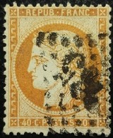 FRANCE Y&T N°38b Cérès 40c Orange Clair. Oblitéré Losange GC - 1870 Siege Of Paris