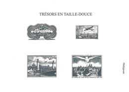 """Gravure """"Trésors En Taille-douce"""" - Timbres Poste Aérienne N°8 à 14, 15, 20 Et 28 - Documenti Della Posta"""