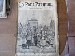 LE PETIT PARISIEN  DU 25 MARS 1894 LA COUTUME DES OEUFS DANS LE GOUVERNEMENT DE MOSCOU,JOUR DE PACQUES EN ALSACE LORRAIN - 1850 - 1899
