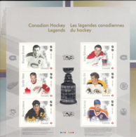 Canada 2017 MNH Souvenir Sheet Of 6 Canadian Hockey Legends - Unused Stamps