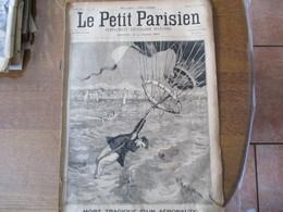 LE PETIT PARISIEN  DU 8 AVRIL 1894 MORT TRAGIQUE D'UN AERONAUTE,L'ACCIDENT DE CLAIRA UNE DILIGENCE A L'EAU,M.HURET GAGNA - 1850 - 1899