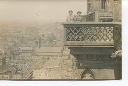 STRASBOURG : Carte-Photo - Balcon De La Cathédrale - Vue Sur La Ville- DOS VIERGE - Strasbourg