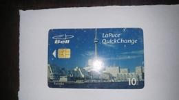 Canada-(b30285)-toronto Skyline-(28)-(10$)-tirage-35.000-used Card+1card Prepiad Free - Canada