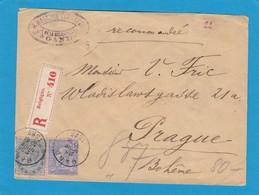 LETTRE RECOMMANDÉE DE GAND POUR LA BOHÈME AVEC E.A. NO 40. - 1883 Léopold II