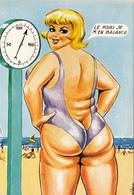 CPSM  Femme Forte Grosse Poids Balance Pesée Humour  Llustrateur L. CARRIERE N° 50408 (2 Scans) - Carrière, Louis