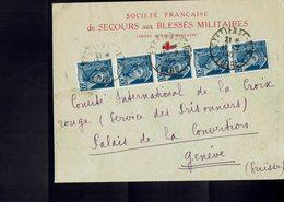 Lettre Postée à SAINT-ETIENNE (Loire) Par La C.R.F. à L'intention De La Croix Rouge Internationale à Genève - - France