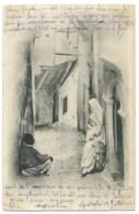 CPA ALGER RUE ARABE /  CAD MUSTAPHA B ALGERIE / 1902 / 10c MOUCHON ROUGE TYPE II - Alger