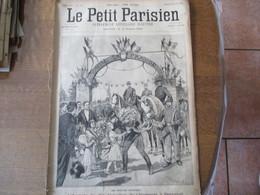 LE PETIT PARISIEN  DU 29 AVRIL 1894 L'ARRIVEE DU 20e BATAILLON DE CHASSEURS A BACCARAT,UNE HALTE DE VELOCIPEDISTES,FORT - 1850 - 1899