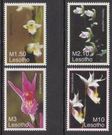 2007 Lesotho Orchids Flowers Fleurs Complete Set Of  4 MNH - Lesotho (1966-...)