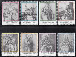 1991 Lesotho Christmas Noel Navidad Durer Art  Complete Set Of 8 - Lesotho (1966-...)