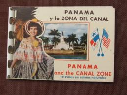 1950s Souvenir Of Panama Canal & Canal Zone Folder Album PC With 10 Views By Foto Flatau - Panama