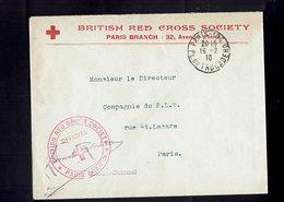 Lettr De La CROIX ROUGE ANGLAISE à PARIS à L'intention Du Directeur Du Chemin De Fer P.L.M. - 1916 - - Croix-Rouge