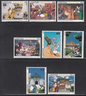 1993 Lesotho Disney Taiwan  Complete Set Of 8 MNH - Lesotho (1966-...)