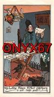 EX-LIBRIS 15,5 X 8,5 De Léo SCHNUG Pour Adam Albert UHLHORN Homme Dans Son Bureau Lisant Un Parchemin 1906 RARE - Ex-libris