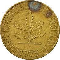 Monnaie, République Fédérale Allemande, 10 Pfennig, 1975, Hambourg, TTB - 10 Pfennig