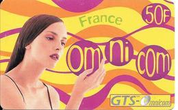 CARTE-PREPAYEE-OMNICOM-GTS-50F-FEMME-FRANCE-31/03/2001-Tirage 80000Ex-GRATTE-TBE - France