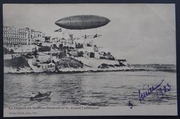 CPA - Nice - Aérostation - Le Départ Du Santos-Dumont N°6 Avant L'accident 3 Février 1903 - Dirigeables