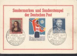 BERLIN  92, BRD 148, Auf Sonderkarte Mit SoStempel: Baiersbronn Dt.nord. Ski-Meisterschaften 8.2.1953 + DSV-Vignette - Berlin (West)
