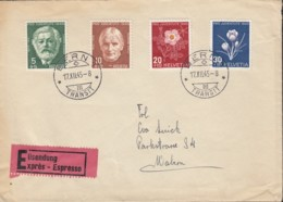 SCHWEIZ 465-468 MiF Auf Eil-Brief Mit Stempel: Bern 17.XII.1945 - Pro Juventute