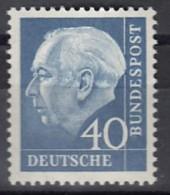 BRD 260 Y, Postfrisch **, Heuss Mit Fluoreszenz, 1960 - [7] República Federal